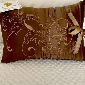 Court of Versailles silk mocha pillow